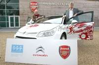 citron c4 arsenal fans car gerald scrafe arsene wenger glowne