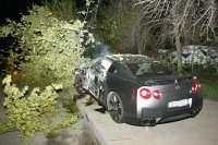 nissan gt r crash 4glowne