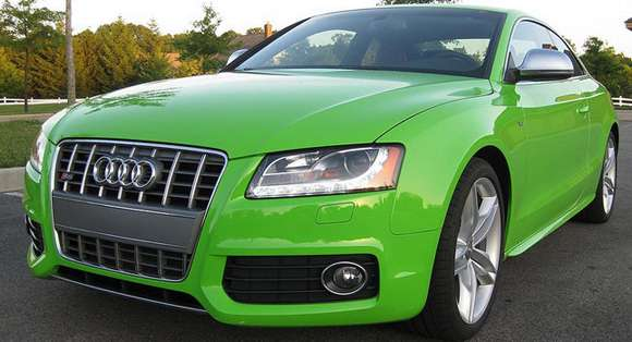 Audi S5 Porsche Lime Green