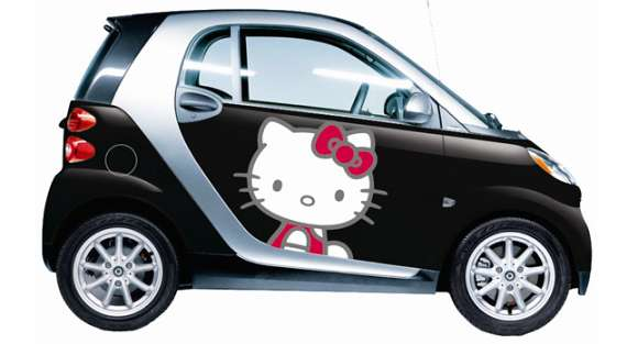 hello kitty smart fortwocarscoop 33 glo