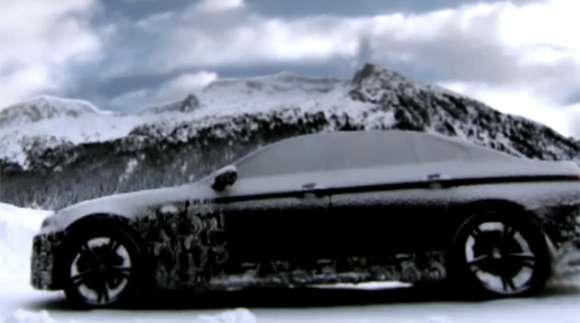 bmw m5 teaser snow 2 glo