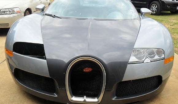 bugatti veyron that crashed in a lake now up for sale glo