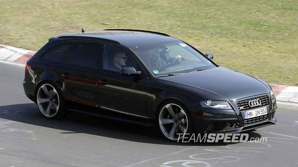 spyshots new audi rs4 avant at the nurburgring 007 glo