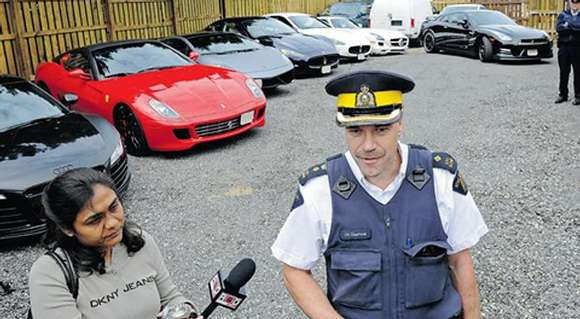 confiscated supercars in canada glo