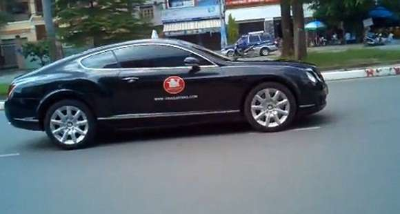bentley continental gt spotted in saigon glo