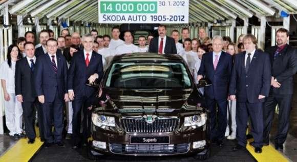 skoda produced 14 millionth car 42245 7 glo