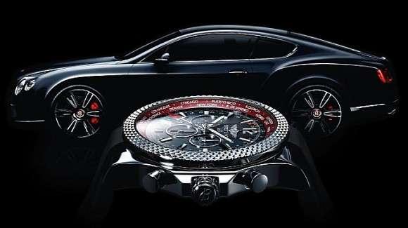 Bentley Continental GT V8 zegarek Breitling