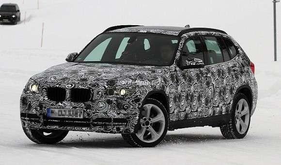 BMW X1 facelifting spyshots
