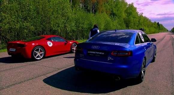 Ferrari 458 Italia vs. Audi RS6 Evotech