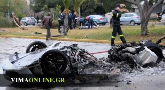 Ferrari F430 wypadek Grecja