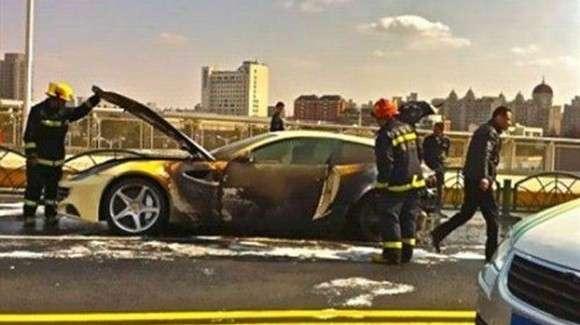 Nowe Ferrari FF spłonęło w Chinach