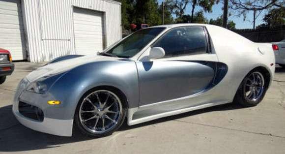 Honda Civic jako Bugatti Veyron replika
