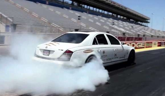 Maybach 57S burnout