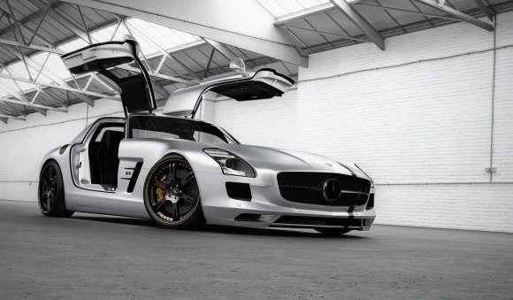 Mercedes SLS AMG Silver Wing od Wheelsandmore