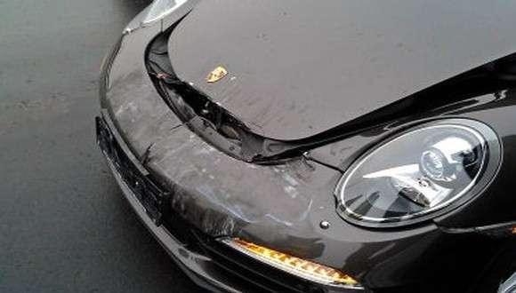 Porsche 911 991 Carrera wypadek crash