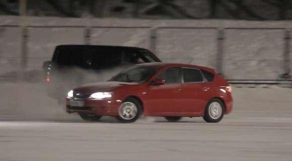 UAZ Patriot i Subaru Impreza tango