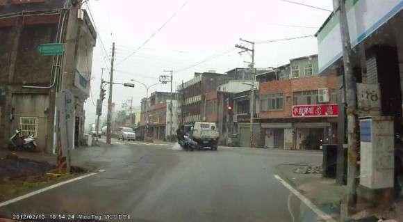 Wypadek motocyklisty w Azji