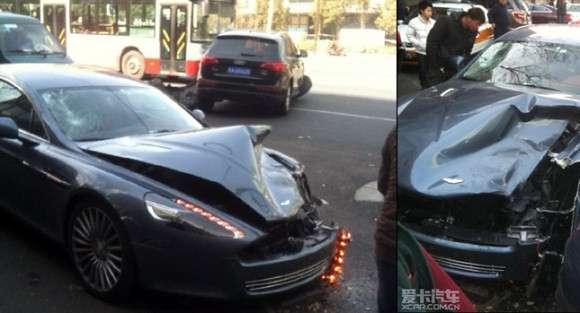 Aston Martin Rapide wypadek