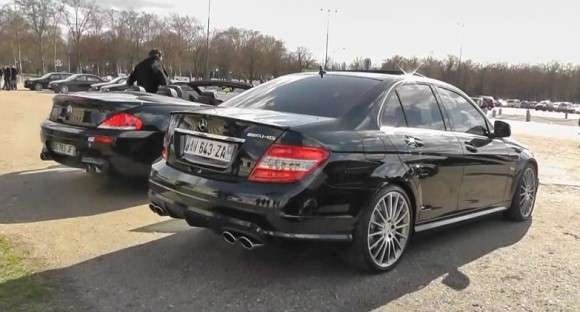 BMW M6 vs Mercedes C63 AMG