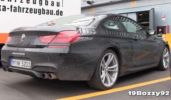 BMW M6 podczas testów na torze Monza