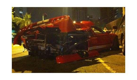 Ford GT po wypadku w Brazylii