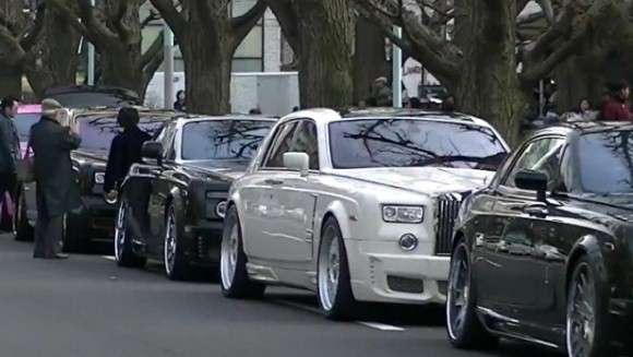 Rolls Royce Phantom zlot Japonia
