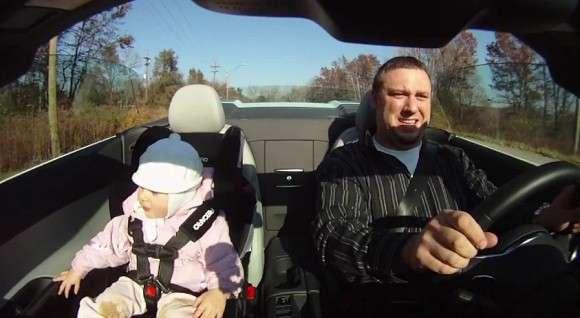 Audi R8 Spyder i dziecko