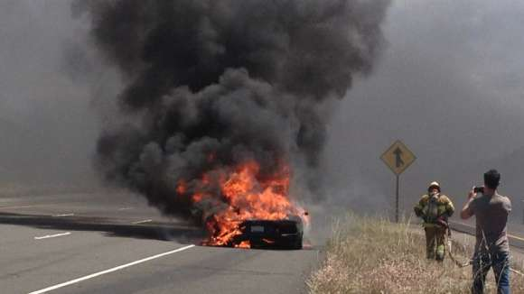 Lamborghini Aventador pożar