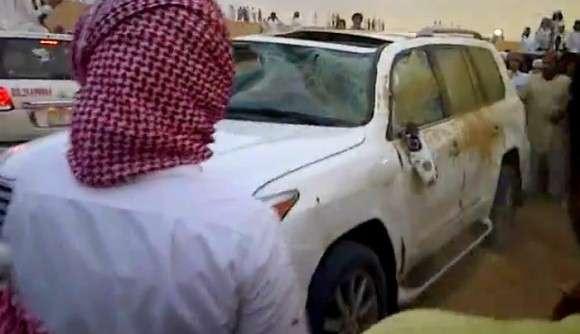 Lexus LX 570 wypadek na Bliskim Wschodzie