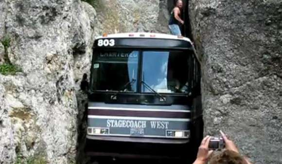 Needles Eye Tunnel i autobus