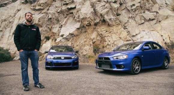 Nowy VW Golf R vs Mitsubishi Lancer EVO