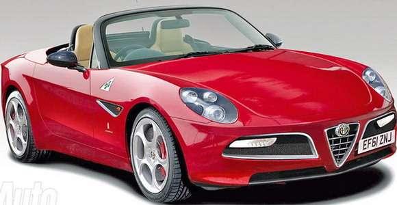 Alfa Romeo Spider rendering