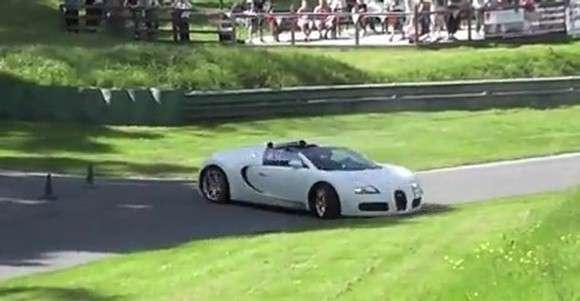 Bugatti Veyron Grand Sport prawie wypadek