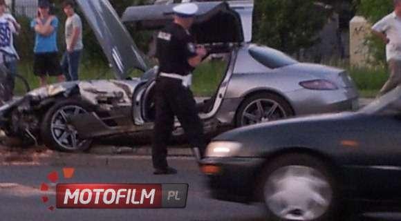 Mercedes SLS AMG crash
