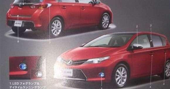 Toyota Auris 2013 wyciek zdjęć