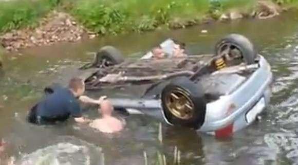 Wypadek podcas pierwszego etapu Rajdu Mazowieckiego 2012