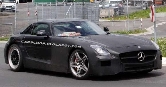 Mercedes SLC AMG muł testowy