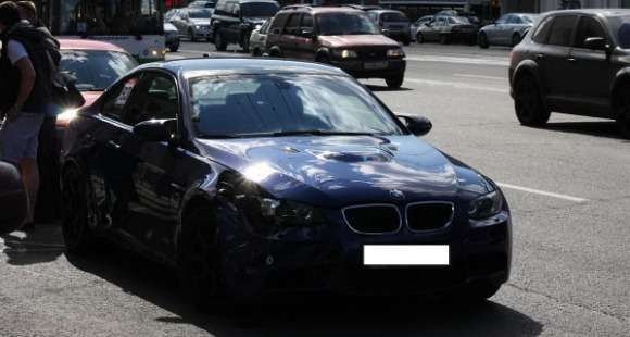 BMW M3 crash