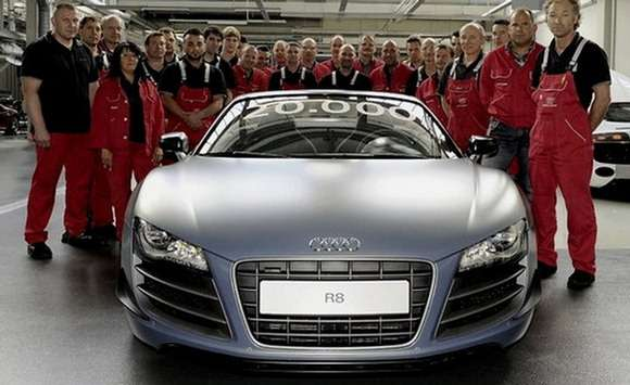 Audi R8 jubileusz 20.000