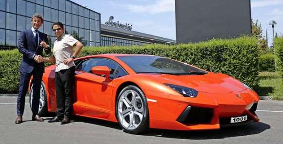 Lamborghini Aventador LP700-4 wręczenie kluczyków