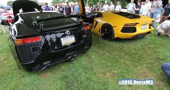 Lamborghini LP 700-4 Aventador vs Lexus LFA