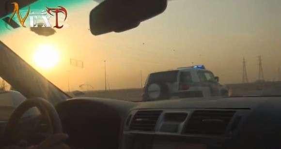Kierowca Lexusa LS, który w poważaniu ma saudyjską policję