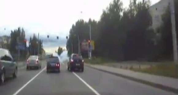 Postrzelony na rosyjskiej drodze