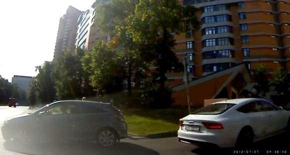 Audi A7 crash