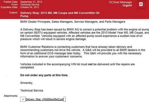 E-mail od BMW