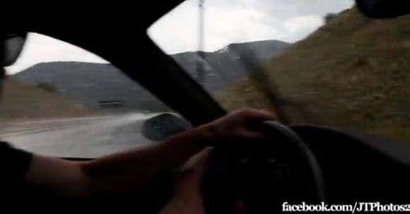 Ferrari F430 prawie wypadek