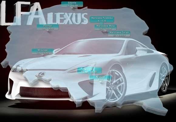 Lexus LF-A w Polsce mapa
