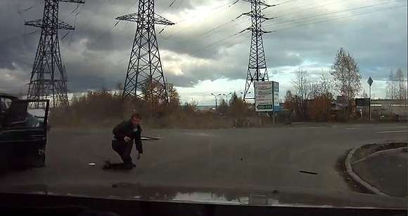 Śmieszny wypadek w Rosji