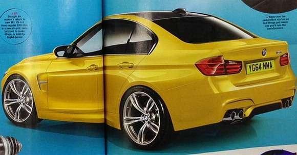 Nowe BMW M3 tył rendering