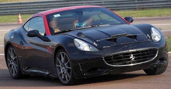 Ferrari California zdjęcia szpiegowskie